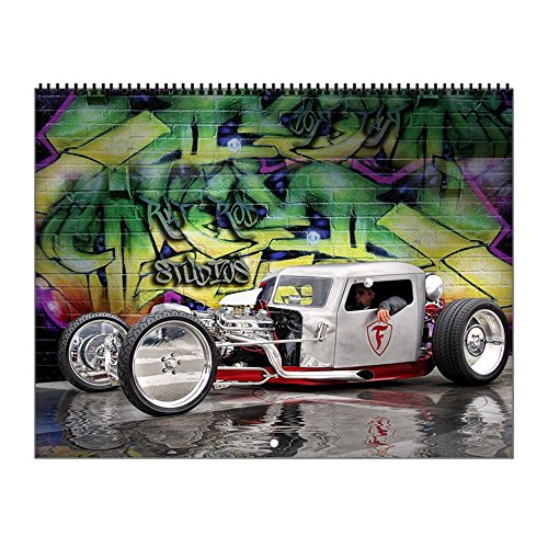 CafePress - Rat Rod Wall Calendar 1 - 2017 Wall Calendar, Quality High-Gloss Paper