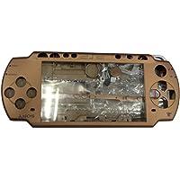 OSTENT Reemplazo de piezas de la caja de la carcasa frontal de carcasa completa Compatible con la consola Sony PSP 2000 - Color marrón