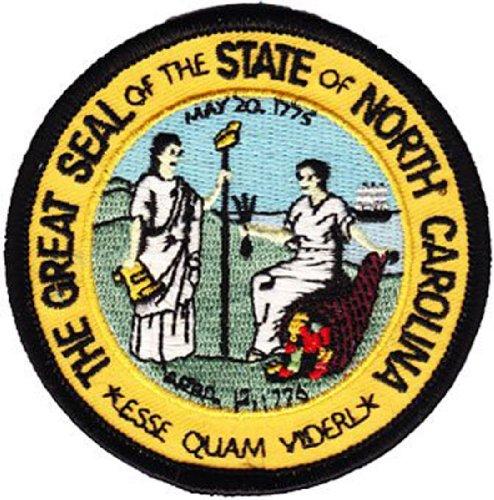 North Carolina - 3 inch Round State Seal Patch