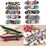 Finger Skateboard Professional Mini Fingerboard Graffiti Deck for Kid Toys Children Gift (Color Random)