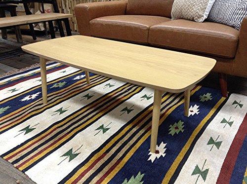 AZUMAYA Wooden Folding Legs Coffee Center Table BLT-229OAK (Natural Yellow Oak)