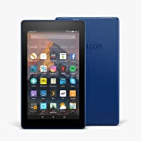 """Fire 7 Tablet with Alexa, 7"""" Display, 16 GB, Marine Blue — with Special Offers"""