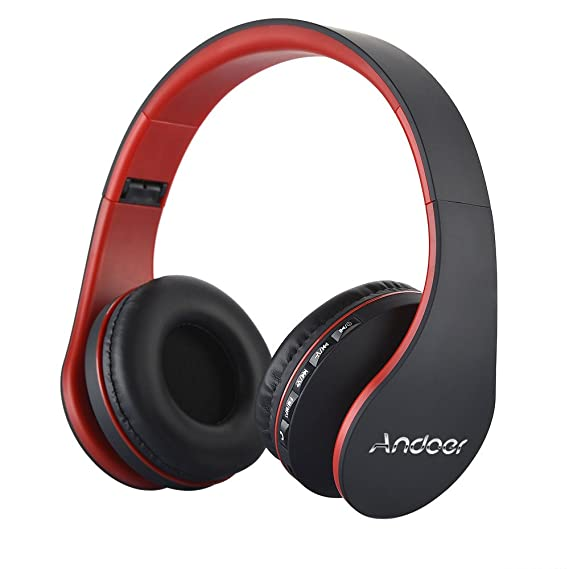 Andoer - 811 LH Wireless Bluetooth Auriculares Bluetooth 4.1 + EDR Auriculares verdrahteter Auriculares con mic MP3 Player TF Música Radio FM Manos libres ...