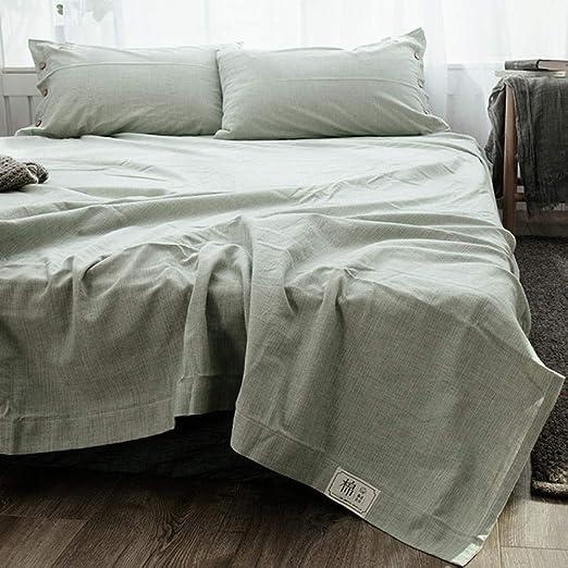 XNSY colchas Cama 150 Modernas Sábanas de algodón-Verde ...