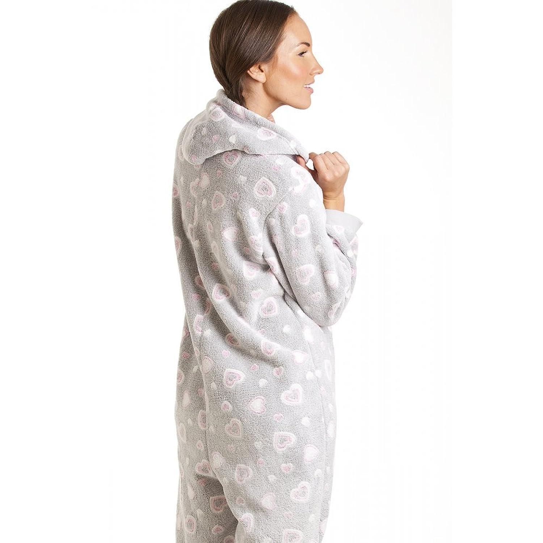 binaison pyjama  capuche motif coeur femme 48 50 Camille
