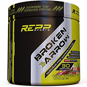 Repp Sports Broken Arrow Pre-Workout, Guava Melon, 30 Servings, Intense Pre-Workout Powder for Increased Power, Energy, Focus and Endurance (Guava Melon)