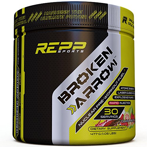 Repp Sports Broken Arrow Pre-Workout, Guava Melon, 30 Servings, Intense Pre-Workout Powder for Increased Power, Energy, Focus and Endurance (Guava Melon) (Fuel Creatine Pump)