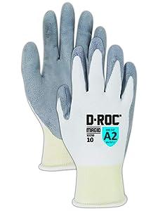 Magid Glove & Safety-SD2509 Magid D-ROC SD250 Polyethylene Glove, Polyurethane Palm Cong, Knit Wrist Cuff, 9
