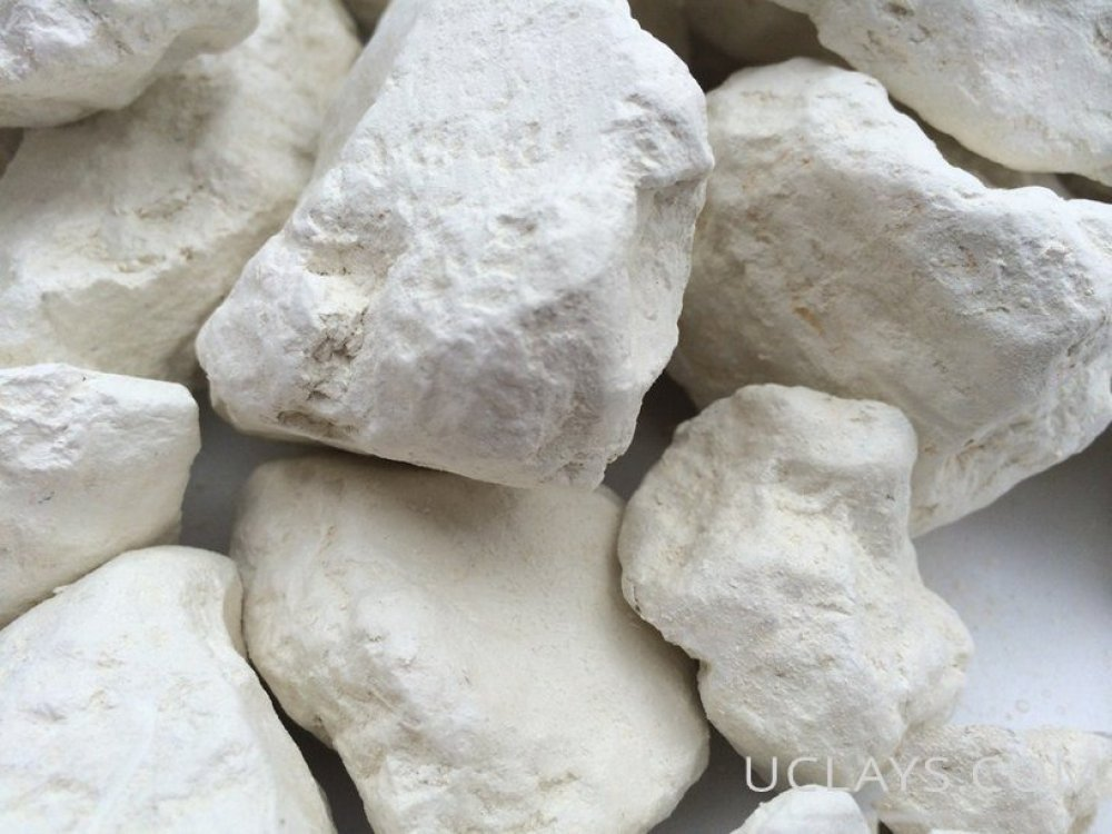 White Edible Clay Chunks Natural for Eating, Edible Clay, White Dirt, 4 oz (113 g)