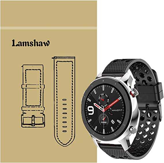 Amazon.com: for Amazfit GTR Band, Lamshaw Silicone ...