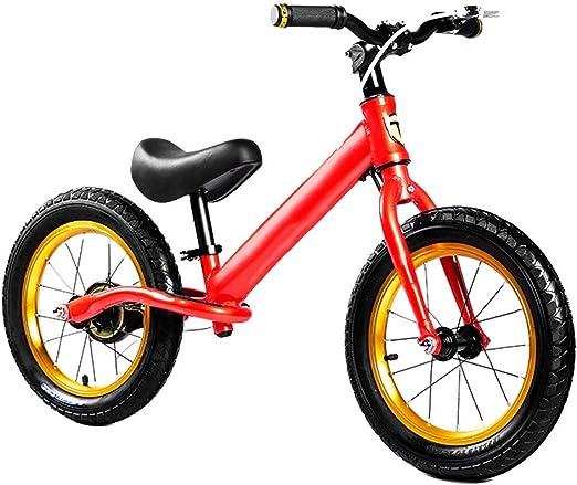 YUMEIGE Bicicletas sin Pedales Bicicletas sin Pedales Neumáticos de Goma, Altura 43,3-54,7 en niños pequeños, Bicicleta de Equilibrio for niños Carga 60KG 2-8 años usando 4 Colores (Color : Red): Amazon.es: Jardín