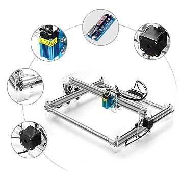 HUKOER A3 Pro CNC USB Grabado láser Máquina de tallado Cortador ...
