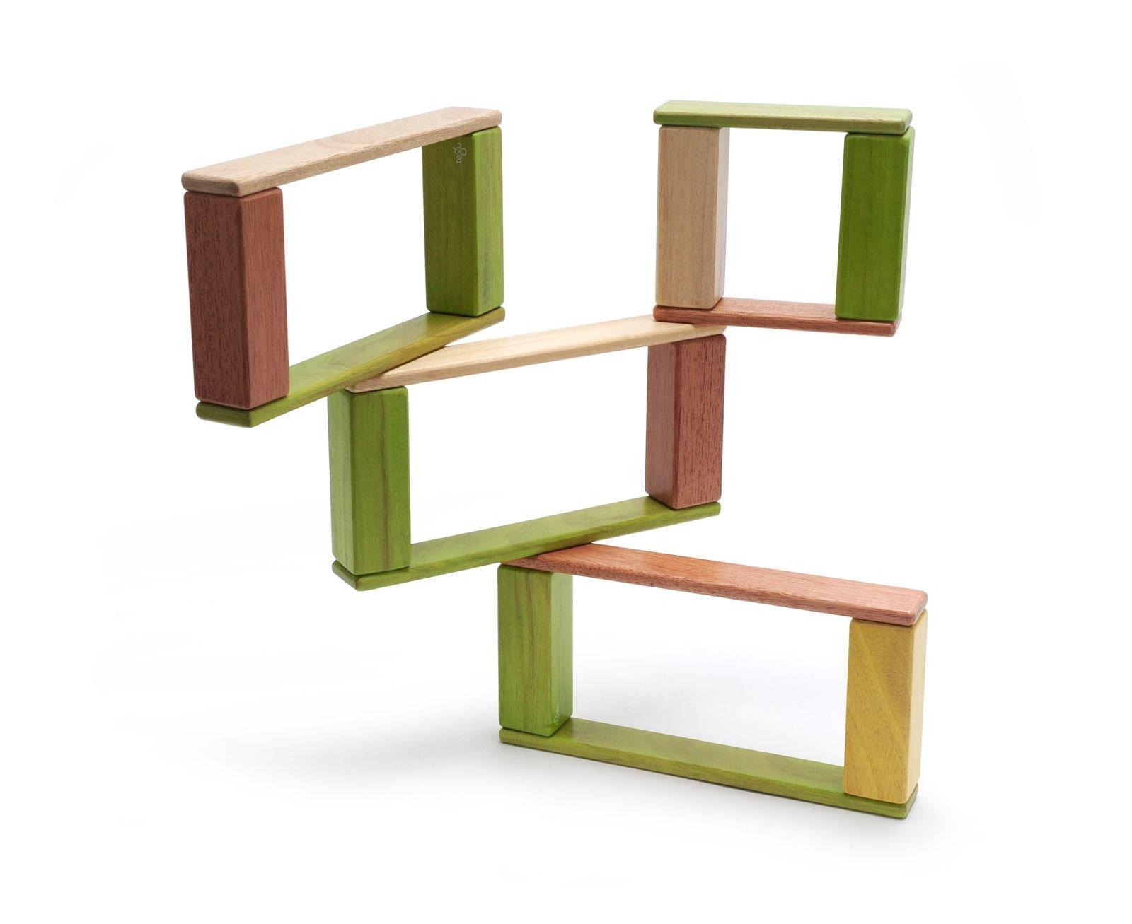 22 Piece Tegu Endeavor Magnetic Wooden Block Set, Jungle by Tegu (Image #2)