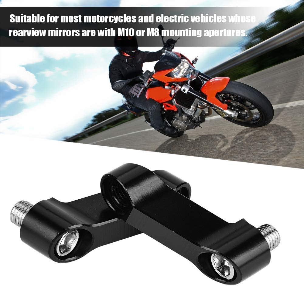 Qiilu Motorrad Spiegel Halterung Riser Extender Adapter f/ür Motorrad Spiegelhalterung 10 St/ück