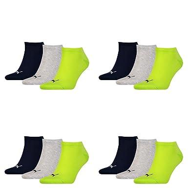 6 pair Puma Sneaker Invisible Socks Unisex Mens & Ladies In 3 Colours, Socken & Strümpfe:43-46, Farben:232 - black / red