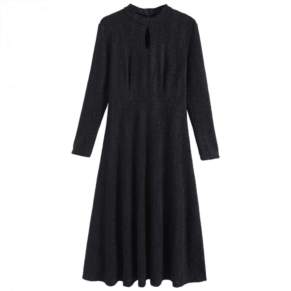 L BINGQZ Winter dress women's new ladies temperament in the long paragraph over the knee knit skirt autumn and winter thickening skirt