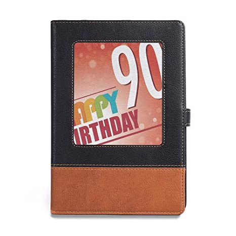 Amazon Premium Thick Paper 90th Birthday Decorations A561 X 86 Easy To Write Draw Or Sketch Happy Greeting On Red Bokeh Background