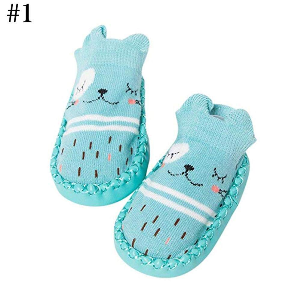 Gracefulvara Cartoon Newborn Baby Anti-Slip Socks Shoes Slipper Boots Learning Walk