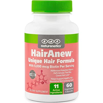 HairAnew (Unique Hair Growth Vitamins with Biotin) - Tested - For Hair, Skin