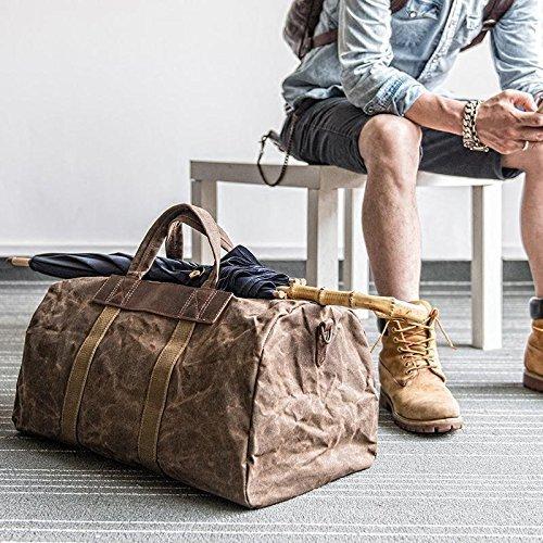 Handmade Waxed Canvas Duffle Bag Travel Bag Holdall Luggage Bag Canvas Messenger by Jellybean Gorilla