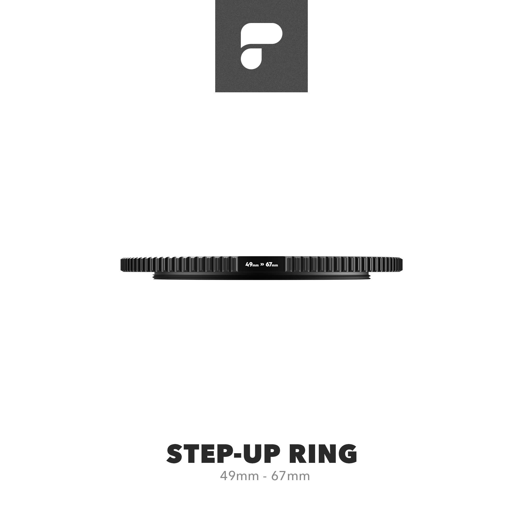 PolarPro Anti-Reflective Brass Step-Up Ring - 49mm > 67mm by PolarPro
