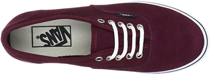 67e416f848 Vans Authentic Lo Pro Trainers Unisex-Adult Red Rot ((Suede) port royal)  Size  36  Amazon.co.uk  Shoes   Bags