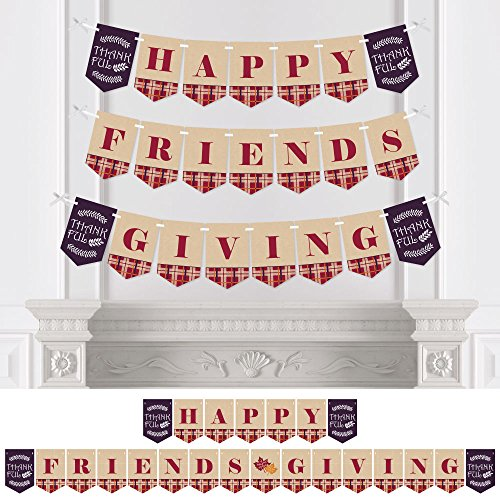 Big Dot of Happiness Friends Thanksgiving Feast - Friendsgiving Party Bunting Banner - Party Decorations - Happy Friends Giving