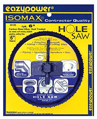 "EazyPower 6"" Hole Saw for CornHole Boards by Eazypower"