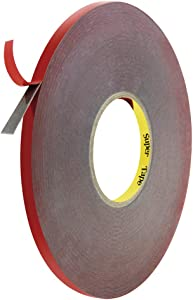 ALITOVE Double Sided Adhesive Foam Tape Weatherproof Heavy Duty Mounting Tape, 100ft Long 10mm Wide 1mm Thick, High Adhesion, Removable, Heat Resistant for LED Strip, Automobile Home Office Decor