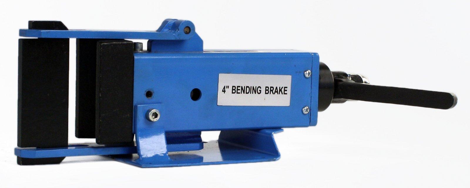 Erie Tools 4'' Hand Operated Steel Bending Brake & Sheet Metal Form Bender with Pressing Die & Stop Assembly