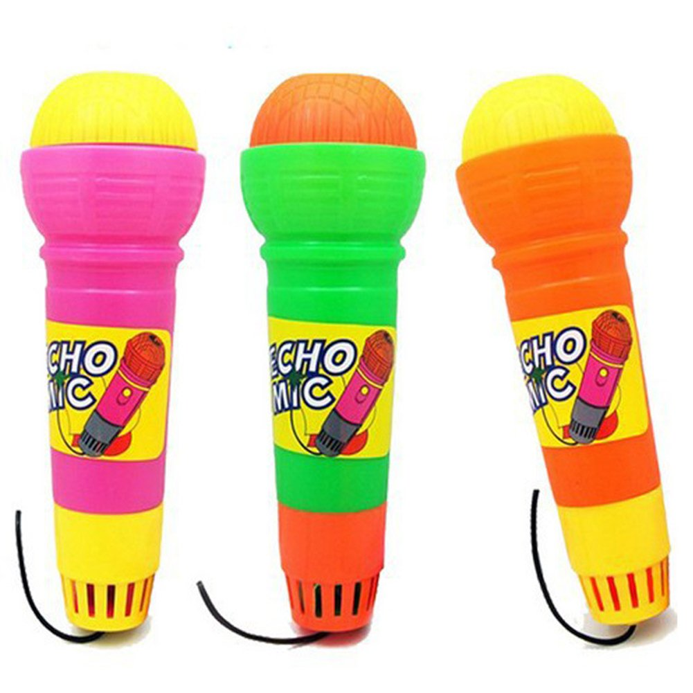 Plastic Magic Mic Novelty Echo Microphone Pretend Play Halloween Christmas Toy Gift for Children Random Color Gprince