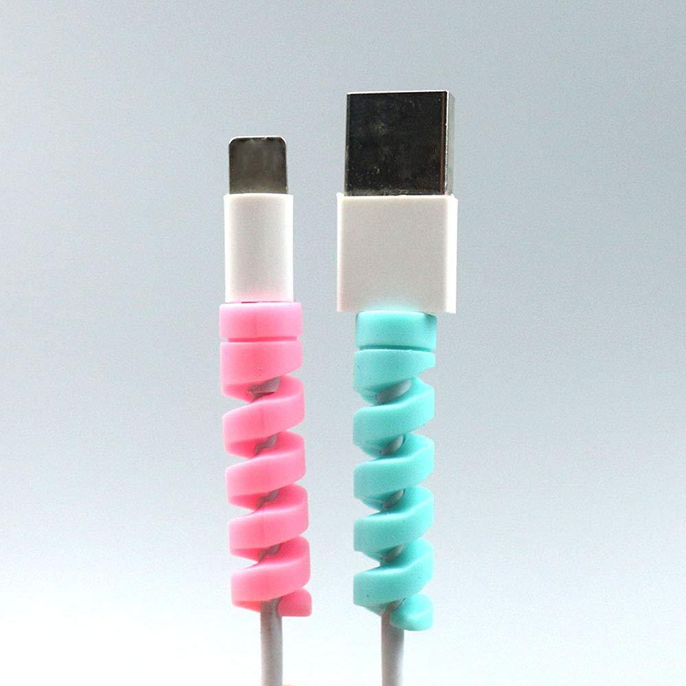 Proteggi Il Tuo Investimento,Grigio MacBook iPhone Micro USB Protettore MAXGOODS 6 Pezzi Protezione Per Cavi Laptop Computer Telefono Cellulare Caricabatterie Protezione Cavo Di Ricarica