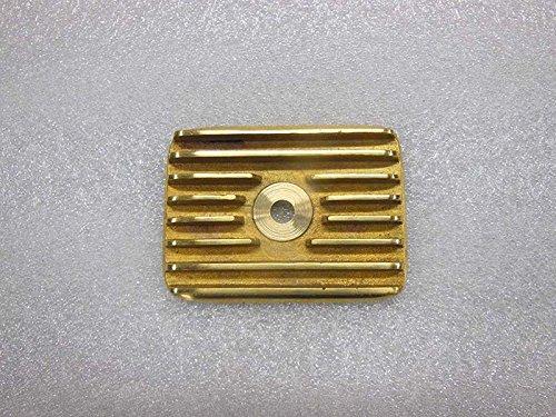 ROYALS GARAGE Royal Enfield Vintage Flanged Brass Tappet Cover Standard Models Fit To AVL Models (Brass Flanged Cover)