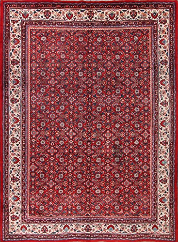 10x13 Classical Traditional Hand Knotted Mahal Persian Area Rug Red (12' 10