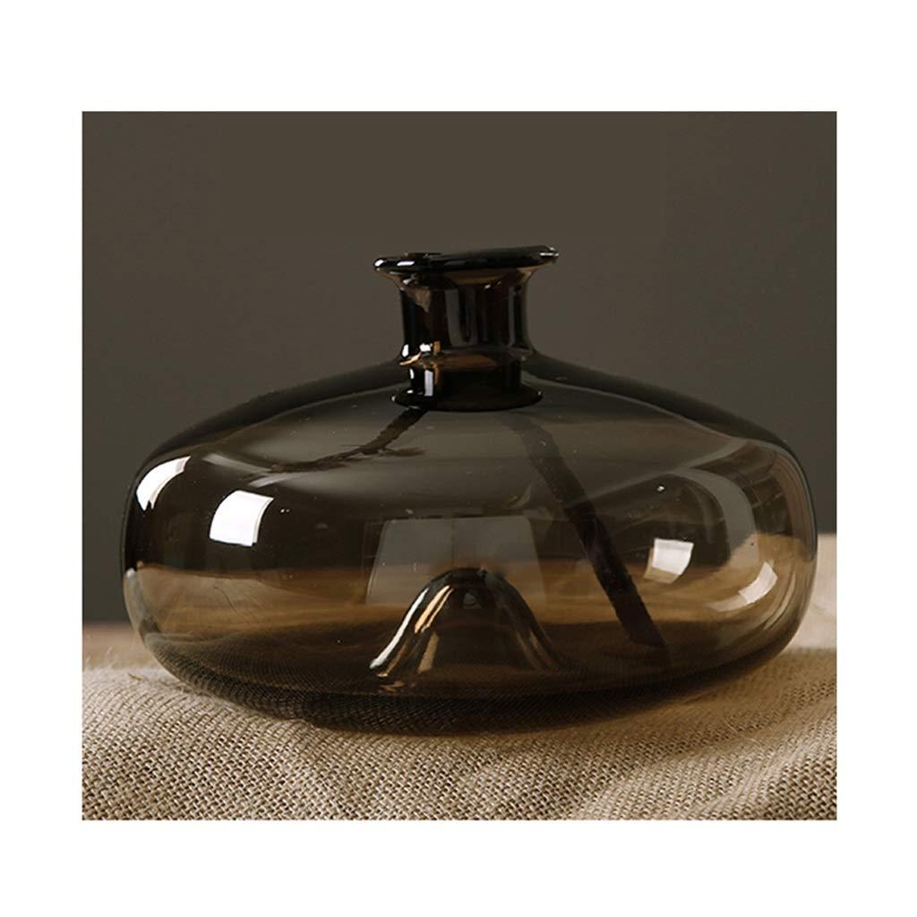 花瓶 北欧ガラス花瓶茶色のリビングルームの家の装飾 SHWSM B07RRRNGH1