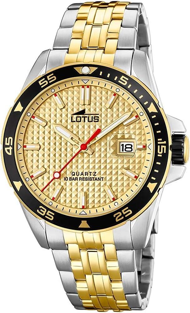 Lotus 18652/1 - Reloj Analógico para Hombre, de Cuarzo con Correa en Acero Inoxidable