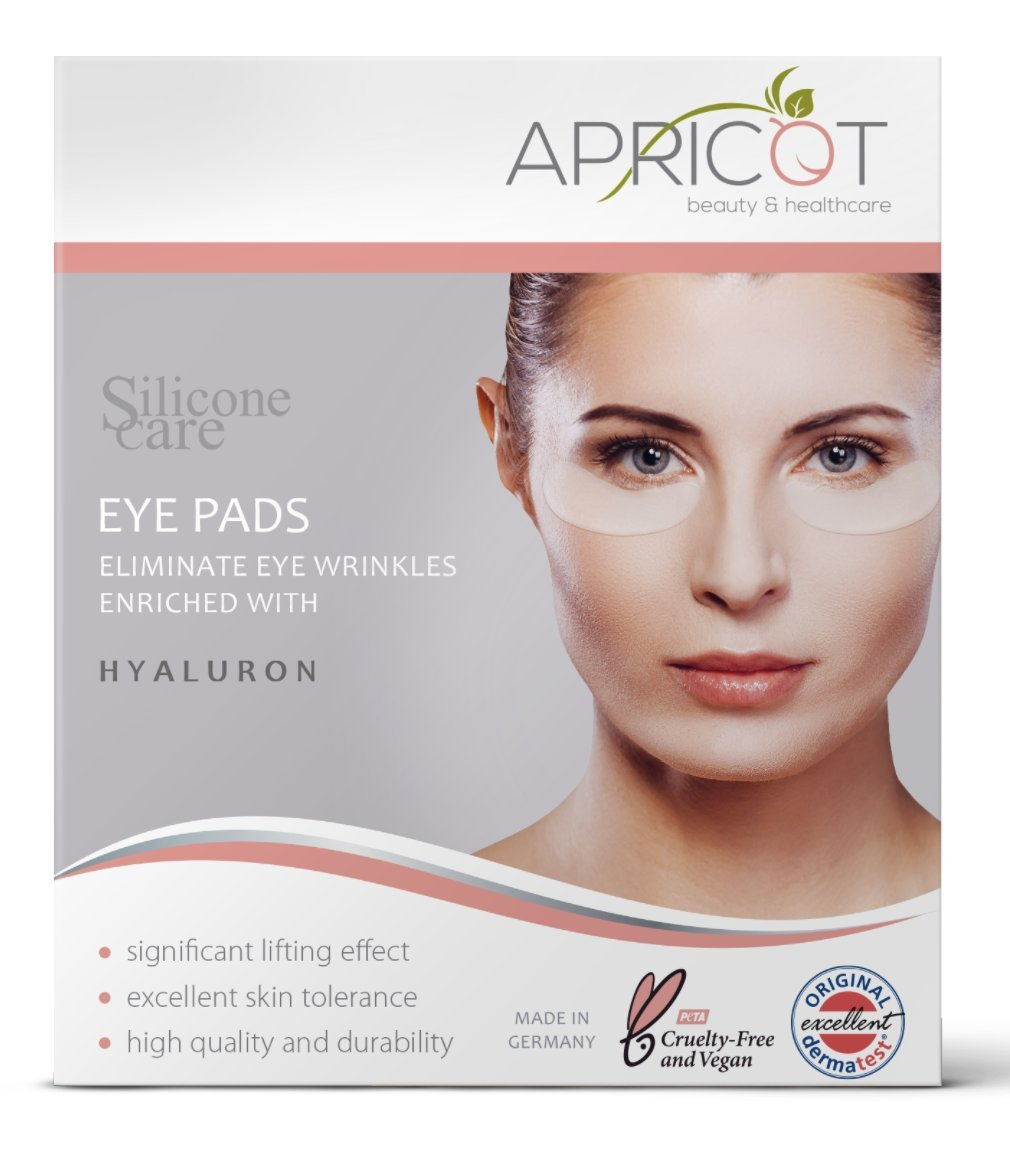 APRICOT beauty & healthcare NEW! Silicone care Eye Pads enriched with highly effective Hyaluron! Reusable Siliconepads original APRICOT product made in Germany! clinically proven efficacy! Softens eye wrinkles!