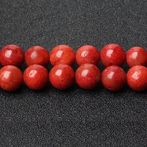 Round Black Coral Necklace - 1