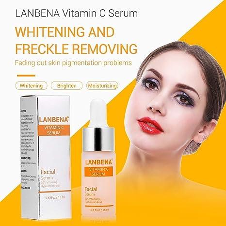 Suero de vitamina C para el rostro con ácido hialurónico Quite las arrugas Hidratación Blanqueamiento Esencia