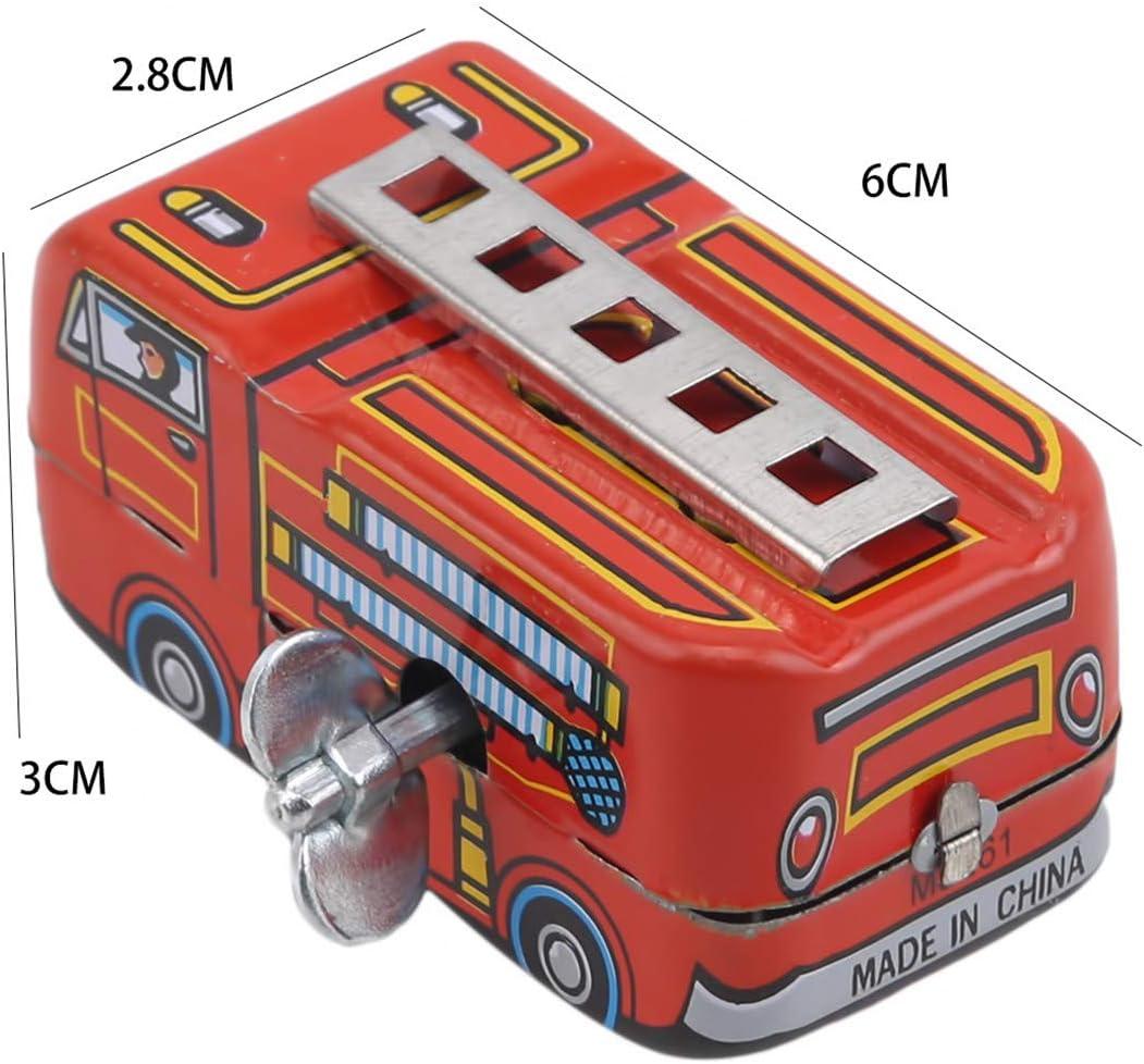 NDBGR Clockwork Tin Toys Voiture R/étro Camion de Pompiers Reminders Classique Jouets Ornement de Bureau Cadeau Mignon pour Enfants Kid