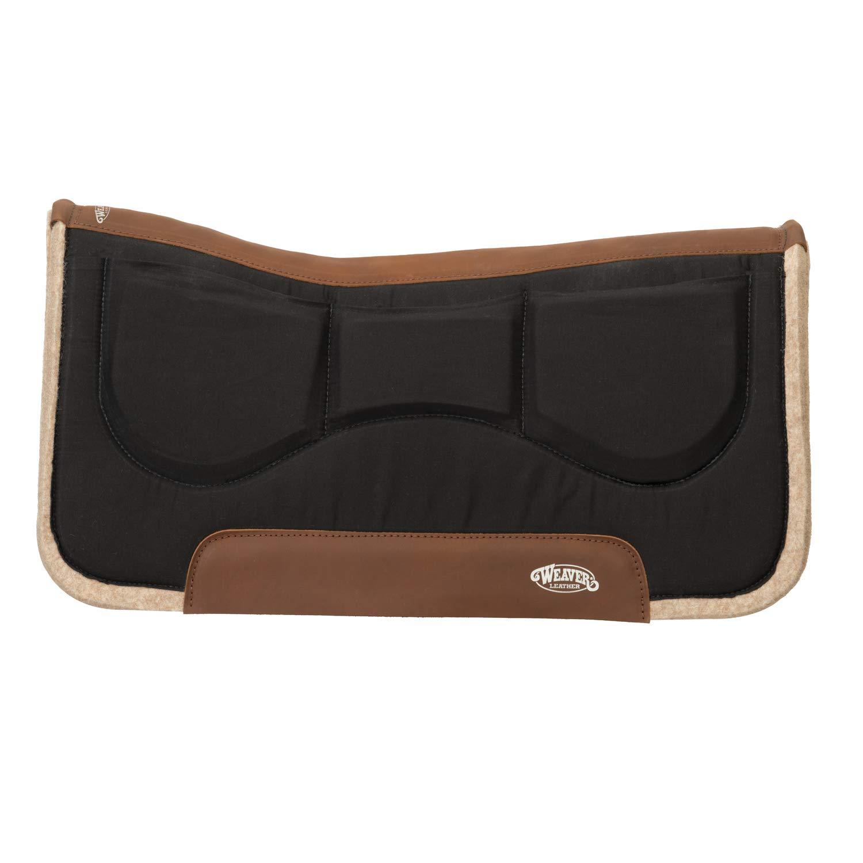 Weaver Leather ウールブレンドフェルトシムパッド 32\ ブラック B07N6ZQHRQ
