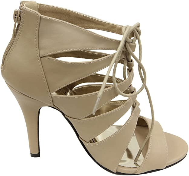 Refresh Womens Dana-04 High Heel Strappy Pump Sandals