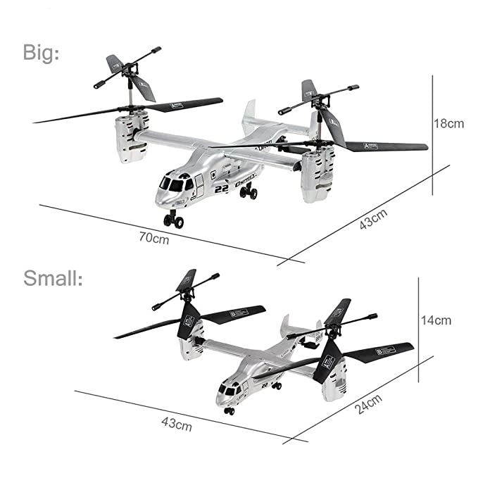Amazon Com Goolsky Remote Control Osprey Helicopter 2 4g 4ch Dual