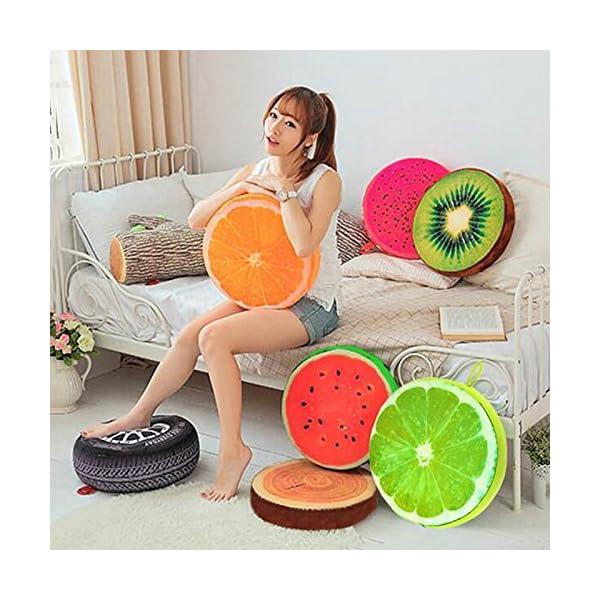Dosige 3D Cartoon frutta cuscino per sedia sedile posteriore divano, cuscino Home Office auto peluche gioca casa… 2 spesavip
