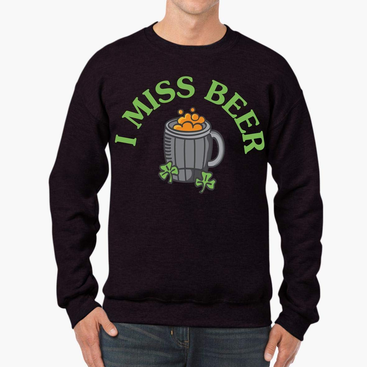I Miss Beer Pregnant Patricks Day Funny Unisex Sweatshirt tee
