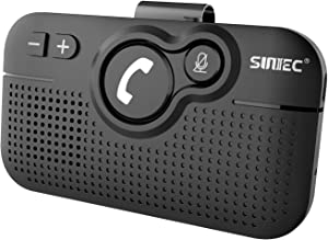 SUNITEC Hands Free Bluetooth for Cell Phone Car Kit - Wireless Bluetooth 5.0 Car Speaker AUTO Power ON Support Siri Google Assistant Voice Guidance Receiver for Car Handsfree Speakerphone - BC980