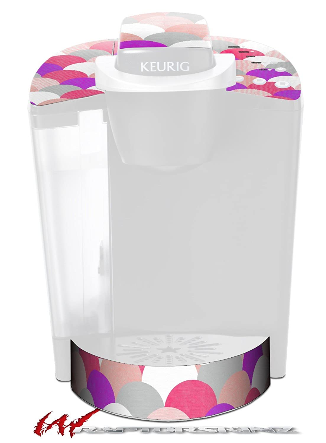 Brushed円ピンク – デカールスタイルビニールスキンFits Keurig k40 Eliteコーヒーメーカー( Keurig Not Included )   B017AK3D2E