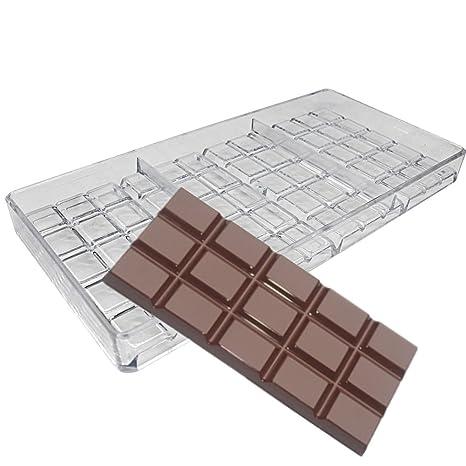 Barra de chocolate eléctrica Inyección Moldes de Policarbonato duro PC Candy molde
