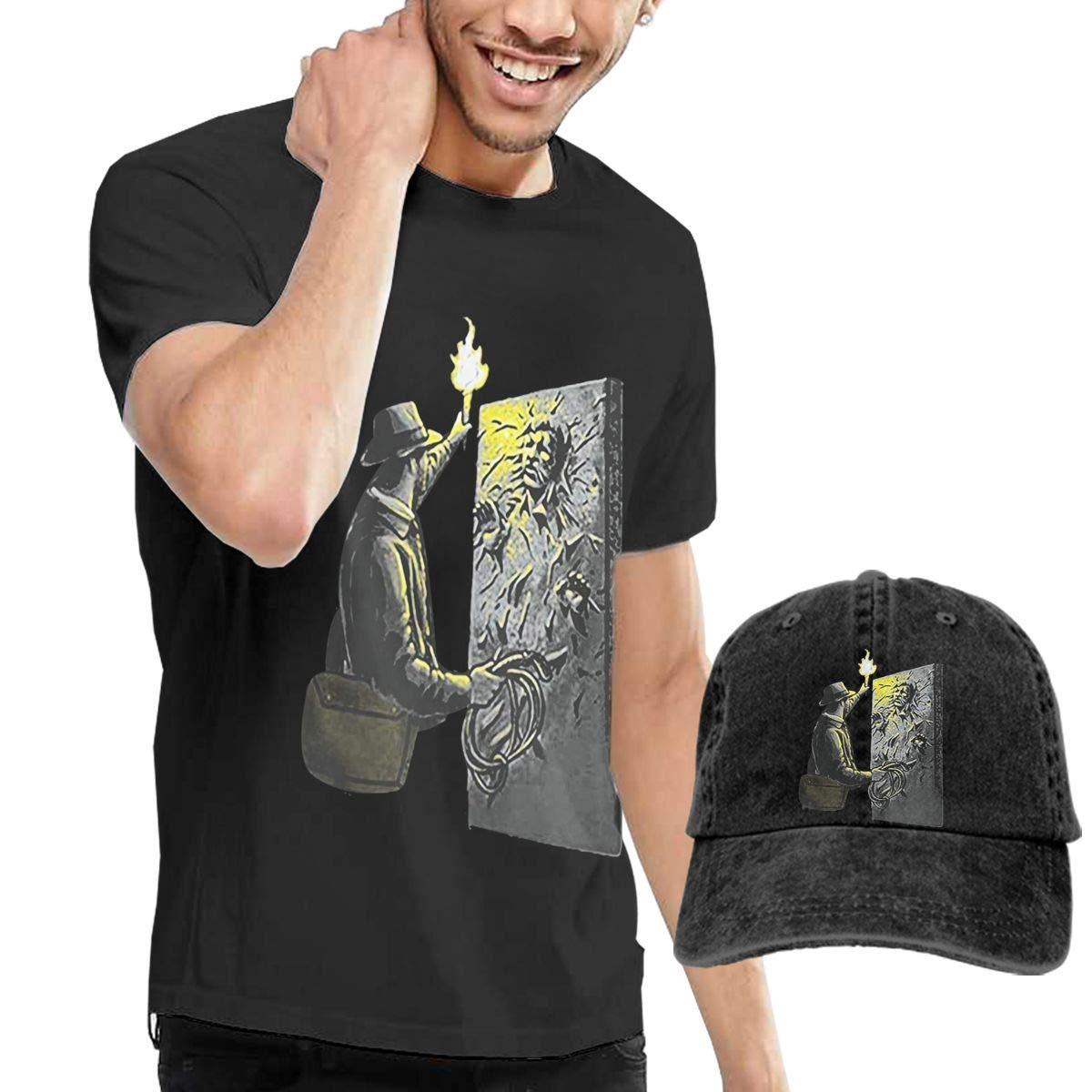Hfusih.fhs6f789 Indiana Jones Han Adult Cap Adjustable Cowboys Hats Baseball Cap M Black