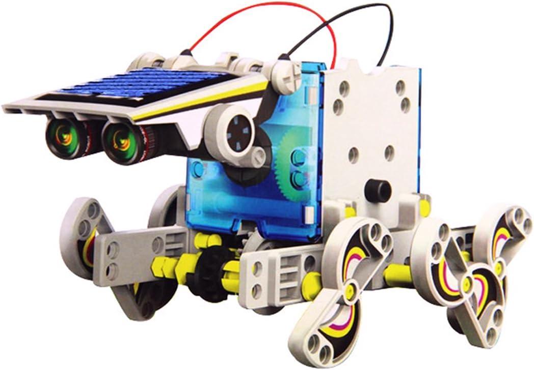 wortek Robot para Niños Solar Robot 14 en 1 Kit DIY Diseño Buzón ...